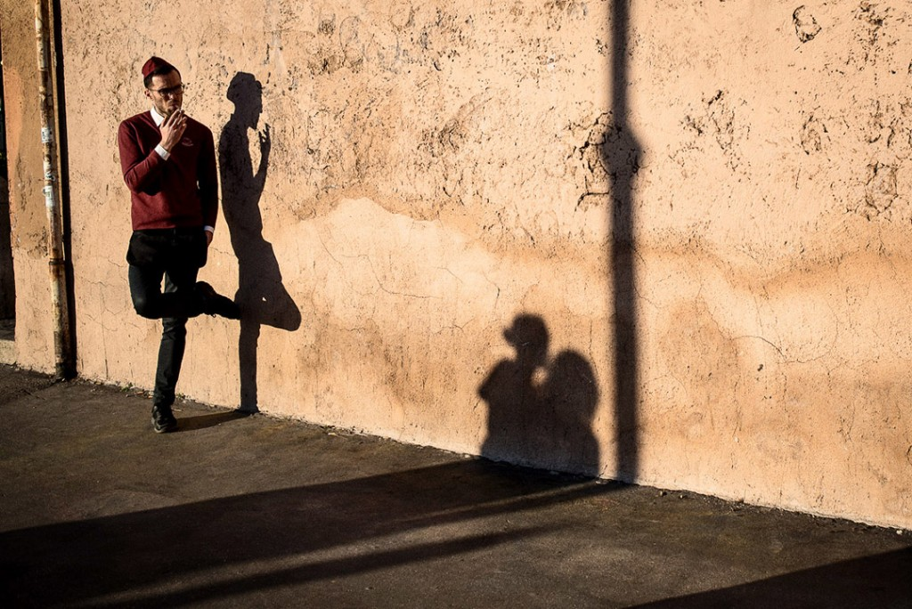 Waiter and shadow by Colisseum-street photo Tim Fox